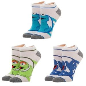 Sesame Street Set of 3 Ankle Character Socks!